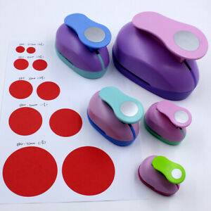 Round Hole Punch Embossing Device Child Machine Paper DIY Cutter 15mm 25mm 38mm.
