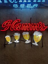 New In Box Hamms Goblett Motion Lighted Sequencing Beer Bar Sign Licensed