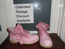 Pink Timberland Roll Top Boots Size 4