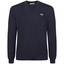 LACOSTE - Maglione blu in lana classic fit per uomo - A/I 2021