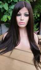 Brown lace front dark brown light human hair wig lace front wig silky straight