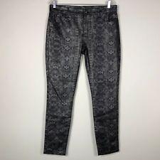 "Buffalo David Bitton Jeans Jeggings 12 by 30 Inseam Snake Skin Print 9.5"" Rise"