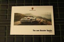 RAR VIP Prospekt/brochure Hardcover Porsche New Boxster Spyder 04/2015 engl.
