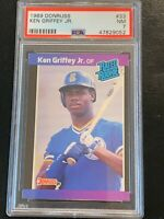 1989 Donruss Rated Rookie Ken Griffey Jr #33 PSA 7