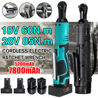 60/85/88/90N.m 3/8'' Cordless Electric 18-42V Ratchet Right Angle Wrench Tool /-
