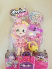 Shopkins Shoppies BUBBLEISHA pink doll and accessories Brand new