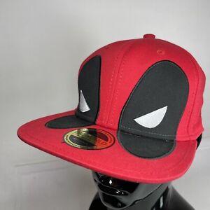 Bioworld Official Marvel Deadpool Red Adjustable Snapback Hat Cap VGC
