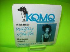 Whitney Houston KQMQ Souvenir Backstage Pass Otto Concert Tour Honolulu Hawaii