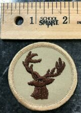 Vintage Deer 1970's Boyscout Embroidered Patch- Hunting Fishing Knots Volunteer