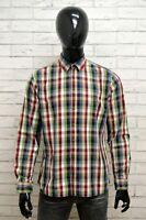 Camicia CAMEL ACTIVE Uomo Taglia Size M Maglia Chemise Shirt Man Cotone a Quadri