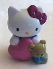 Hello Kitty Sanrio Figure Heart Teddy Bear Valentine 2002