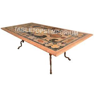 6'x3' Marble Italian Dining Restaurant Table Top Pietra Dura Inlaid Decor E638