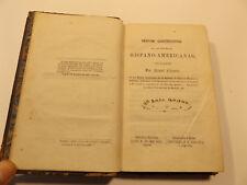 1858 DERECHO CONSTITUCIONAL de las Republicas HISPANO-AMERICANAS Spanish RARE
