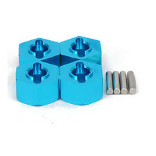 4PCS Alum 12mm Hex Wheel Hub Mount W/ Pins For RC 1/10 Traxxas 5807 Slash Blue