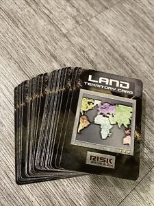 Risk 2210 A.D. Replacement Land Territory Cards 44 Cards Avalon Hill 2001 Crafts