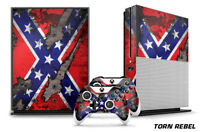 Designer Skin for XBOX ONE S 1S Gaming Console+2 Controller Sticker Decal TORN R
