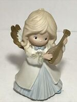 "Homco Home Interiors Porcelain 5"" Angel with Musical Instrument Christmas"