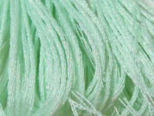 DMC Light Effects Embroidery Floss Color E966 Lime Pearlescent Effects Art 317