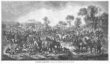 Sisi, Sissi, Kaiserin, Fuchsjagd in Pardubice, Original-Holzstich von 1884