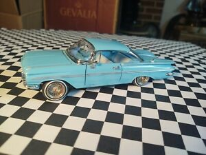 1959 CHEVROLET IMPALA V8 DIECAST LOWRIDER  GOLD CHROME SPOKES AND RUBBER TIRES