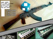 1:1 AK47 Gun Assault Rifle sniper rifle paper Model Do It Yourself