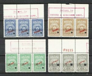 Honduras Revenues Specimen Stamps (By ABN Co) MNH OG