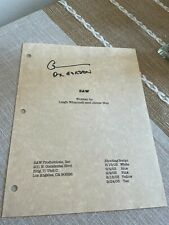 More details for signed saw 1 script cover by cary elwes *doctor gordon*