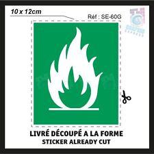 10 x 12 cm - FLAMME  - STICKERS AUTOCOLLANT ADHESIF - SE-60G