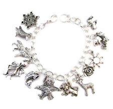 Game of Thrones inspired bracelet Win or Die style Charm Bracelet silver tone