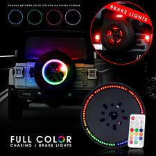 14 inch Spare Tire RGB LED Brake Lights Third Wheel Lamp for Jeep Wrangler JK JL