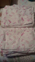 Pottery Barn Kids PBK Barbie bed sheets twin