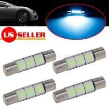 4x Ice Blue 29mm Festoon 3SMD Vanity Mirror Lights Sun Visor Lamp Fuse LED