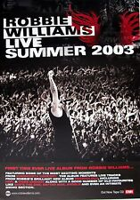 "Robbie Williams ""Live Summer 2003"" Thailand Promo Poster-Robbie Singing To Crowd"