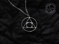 Philosopher's Stone Pendant Alchemy Symbol Pendant Stainless Steel Necklace Logo