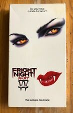 Fright Night Part II 2 VHS Tape Roddy McDowall William Ragsdale Julie Carmen