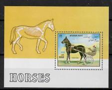 (W1256) AFGHANISTAN, 1996, HORSES, BL. 90, UM/MNH, SEE SCAN