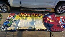 Molson Canadian Ice Halloween Hockey Hat Trick Beer Banner Sign Display HUGE