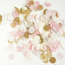 Pink and Gold Tissue Paper Circle Confetti Party Decoration Wedding Shower Favor