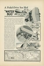 1933 How to Build Pedal Drive Sea Sled Boat Water Bug Kids Toy