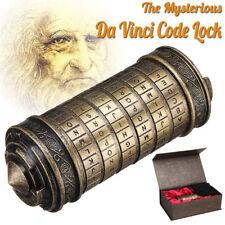 Creative Birthday Valentine Gift Box Cylinder Da Vinci Code Alphabet Lock Puzzle