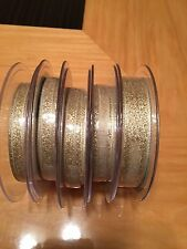 Berisfords Double Faced Metallic Lame Ribbon - Full Reel - Gold or Dark Gold