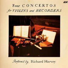 RICHARD HARVEY Four Concertos for Violins & Recorders CD Vivaldi Naudot Baston…