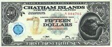 Chatham Islands (New Zealand) 15 dollars, series 2001, POLYMER.