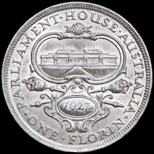 Australia. George V, Florin Two Shillings, 1927. Parliament Building.
