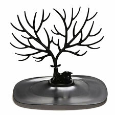 Retro Bird Tree Stand Jewelry Earrings Necklace Ring Show Rack Holder Display F7