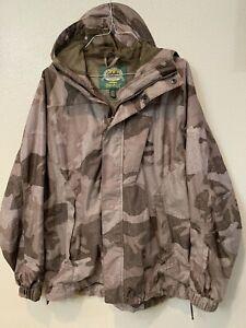 Cabela's Outfitter Camo Dry-Plus Hooded Jacket Revolution Silent Fleece MEDIUM