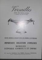 1976 Catalogue Di Vendita Illustre Versailles Opalino Mobili D Periodo Charles V
