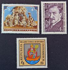 AUTRICHE timbre - Yvert et Tellier n°1520 à 1522 n** stamp Austria (cyn5)