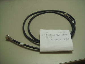 Belden Used Coax Cable 9204M17/29-RG59 5ft, 2male ends