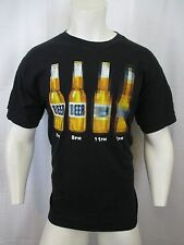 5 P.M. TO 2 A.M. BLUR VISION BEER DRINKING GRAPHIC CREW NECK T-SHIRT SIZE LARGE
